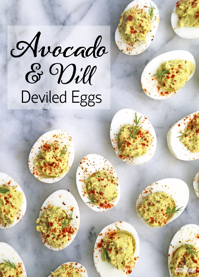 Avocado and Dill Deviled Eggs