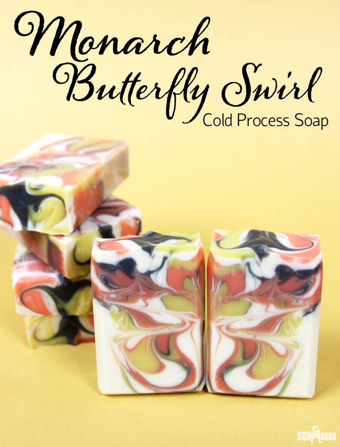 Monarch Butterfly Swirl Cold Process Soap