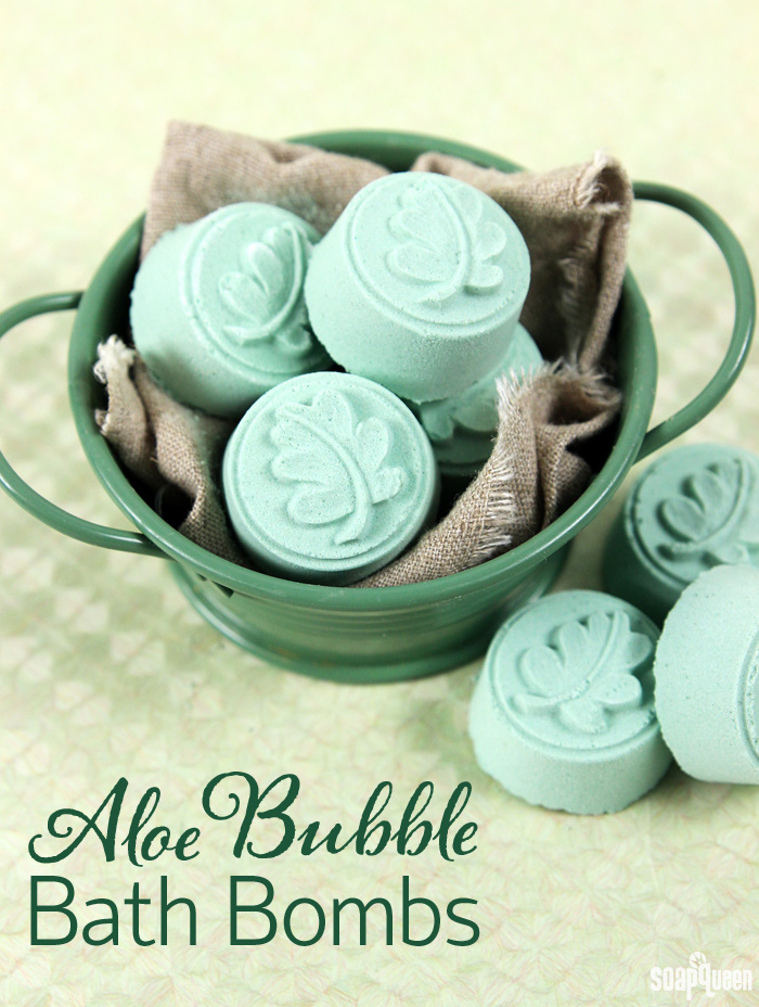 Aloe Bubble Bath Bomb Tutorial