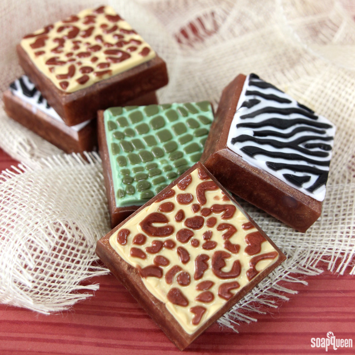 Animal Print Melt and Pour Bar Tutorial on Soap Queen