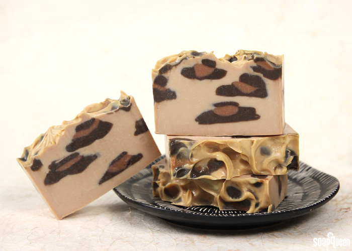 Leopard Print Cold Process Tutorial on Soap Queen