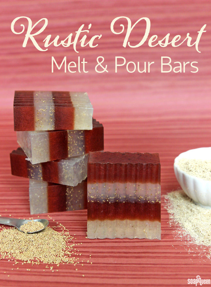 Rustic Desert Melt and Pour Soap DIY