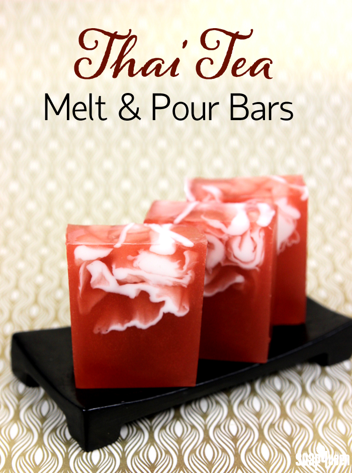 Thai Tea Melt and Pour Tutorial