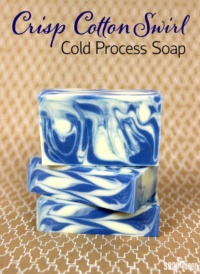 Crisp Cotton Swirl Cold Process