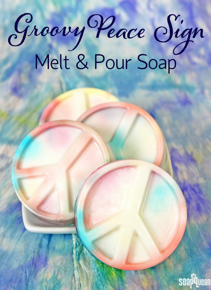 Groovy Peace Sign Melt and Pour Soap