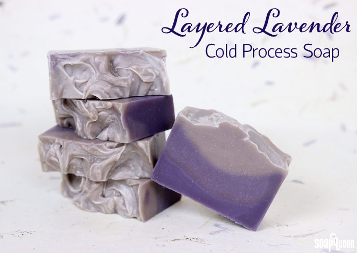 Layered Lavender Cold Process Soap