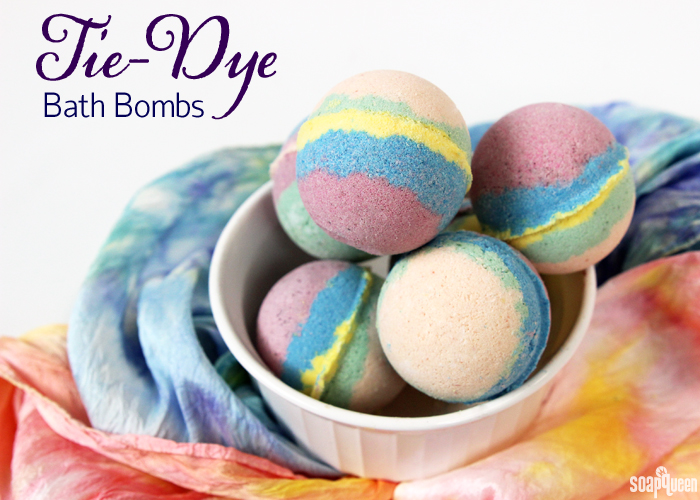 Tie-Dye Bath Bomb Tutorial