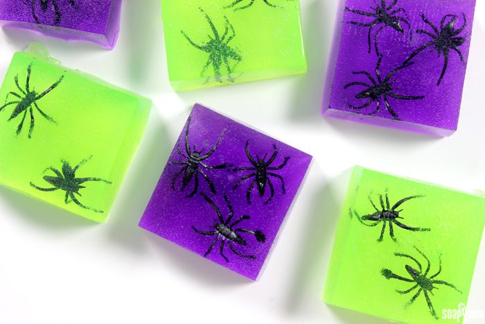 These Creepy Crawly Spider Soap Jellies are perfect for Halloween! Kids love the wiggly texture and creepy spider toys.
