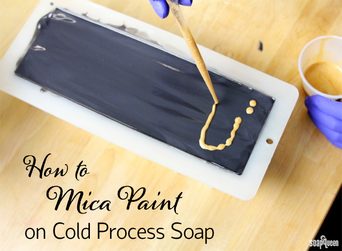 Mica painting is a great way to add color and sparkle to cold process soap. Learn how in this blog post!