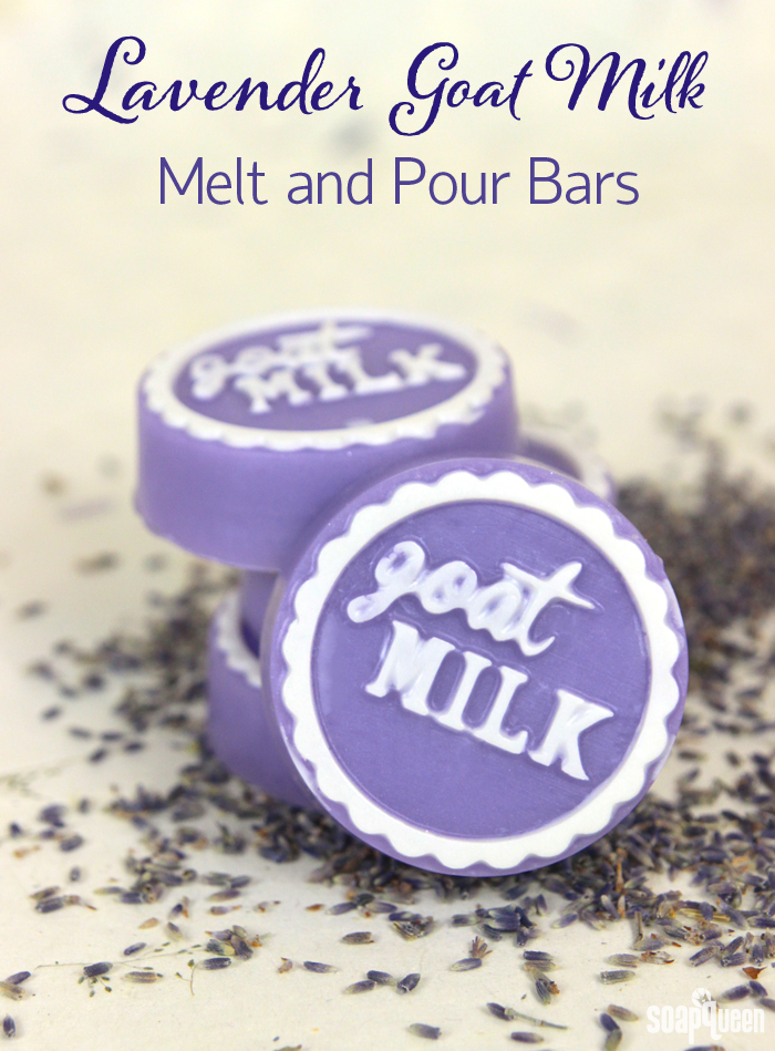 Made with lavender essential oil, these Lavender Goat Milk Melt and Pour Bars have a relaxing and floral scent.