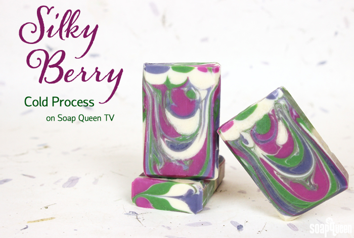 This Silky Berry Cold Process Soap is made with real silk and a delicious fragrance combination. Learn how to make it in this video!