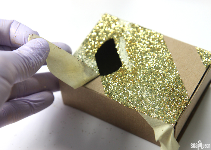 Dress up your soap packaging with glitter!