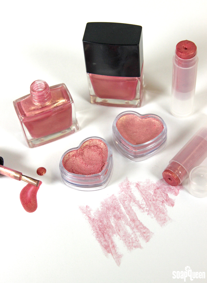 Rose Gold Cosmetic Colletion DIY
