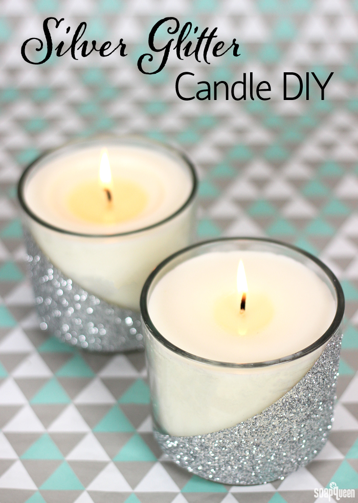 Silver Glitter Candle Diy Soap Queen