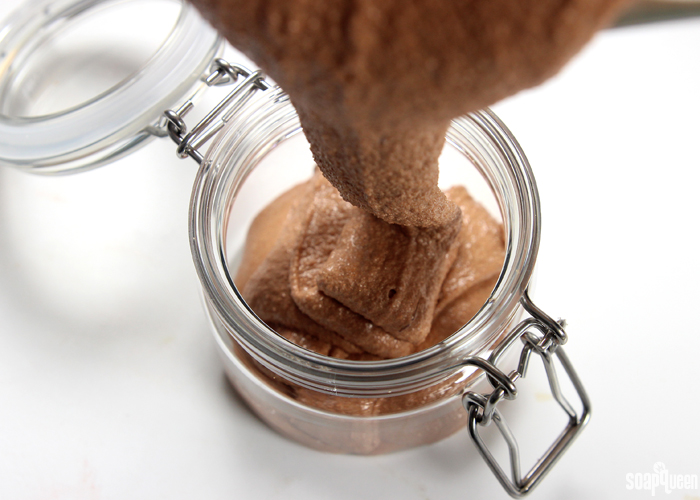 Pour Scrub - Doesn't this look like chocolate soft serve ice cream?!