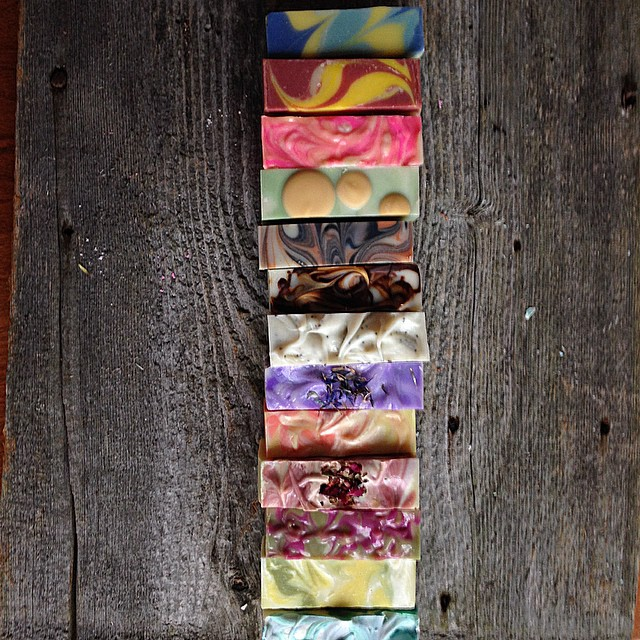 "Melissa of Hallowell Soap Works creates beautiful cold process soap, and is known for her distinctive ""strong arm swirl."" Read her interview to learn about her creative process and business tips!"