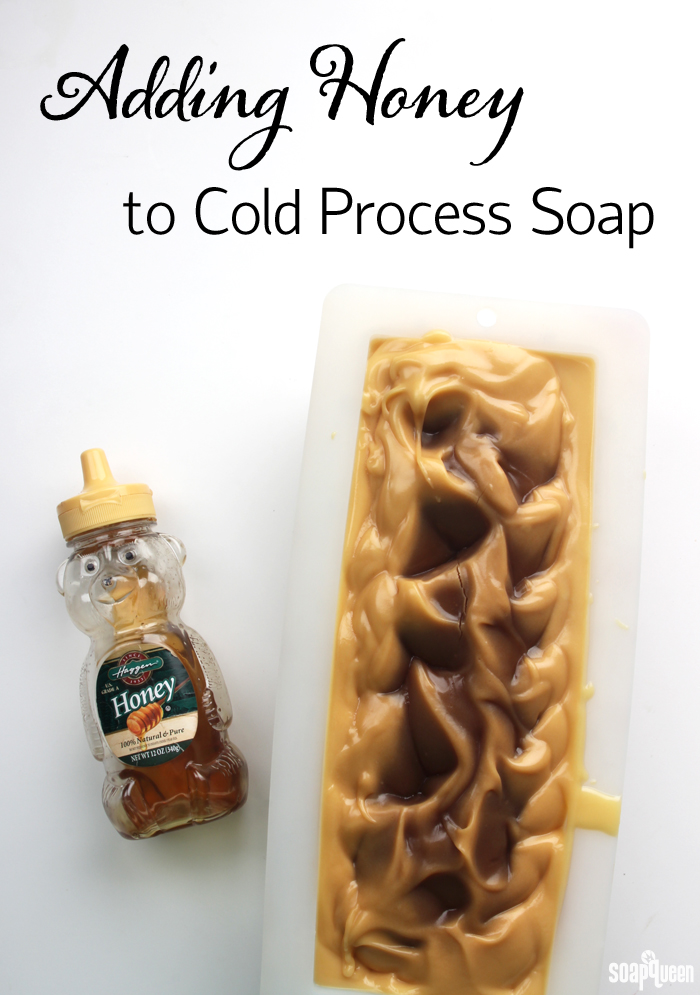 Learn how to work with honey in cold process soap, and see what happens when