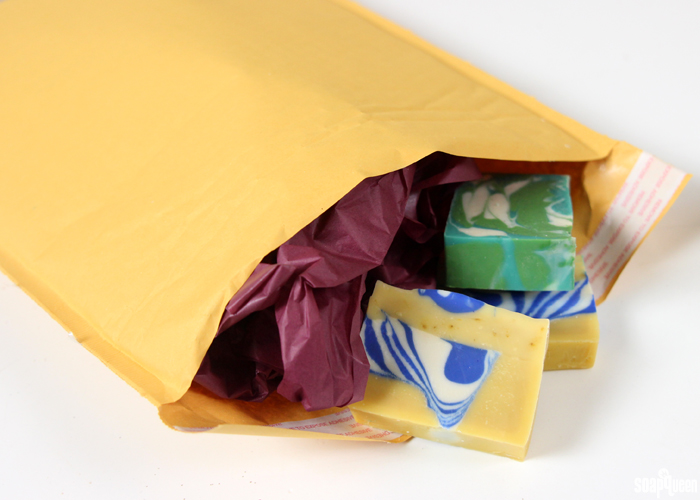 How to package and ship delicate handmade products like soap can be a tricky process! This post goes over the basics of protecting your items during transit.