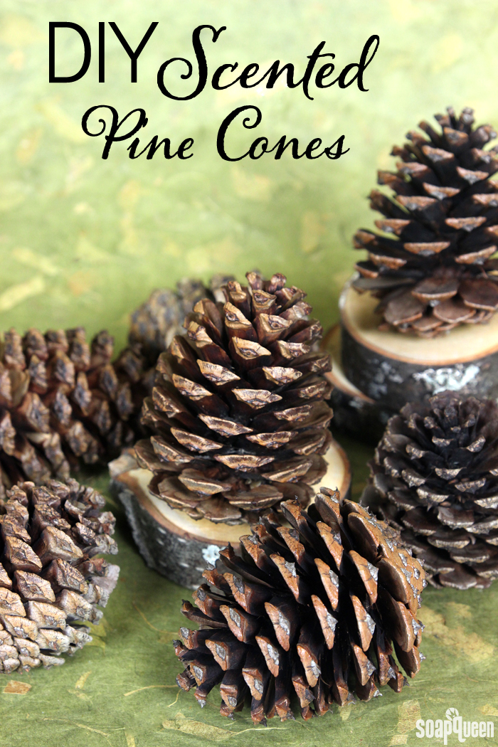 Fill your home with your favorite fragrance with festive scented pine cones. They are incredibly easy to make!