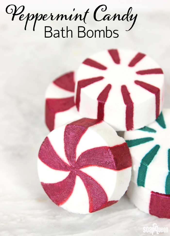Peppermint Candy Bath Bombs