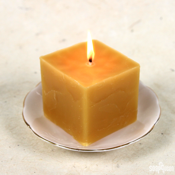 These Pure Honey Beeswax Candles are made with yellow beeswax and recycled containers for a rustic chic look.