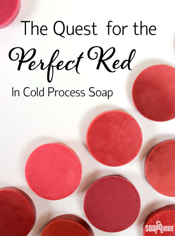 The Quest for the Perfect Red in Cold Process Soap