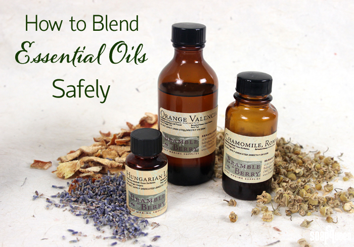 Learn how to safely add multiple kinds of essential oils into soap or other bath and beauty products.
