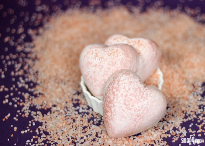 These Lavender and Rose Pink Salt Bars are made with lavender essential oil and pink sea salt for a creamy lather.