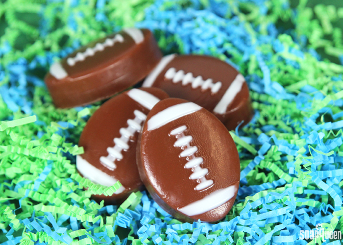 These Mini Football Soaps are easy to create, and are a fun way to celebrate the sport.