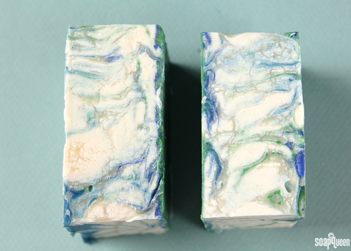 Adding extra water to cold process soap can lead to glycerin rivers.