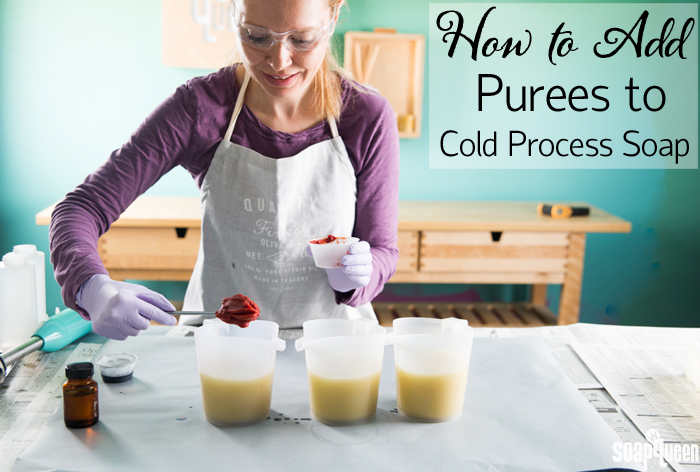 Learn how to add natural purees to your cold process soap recipes!