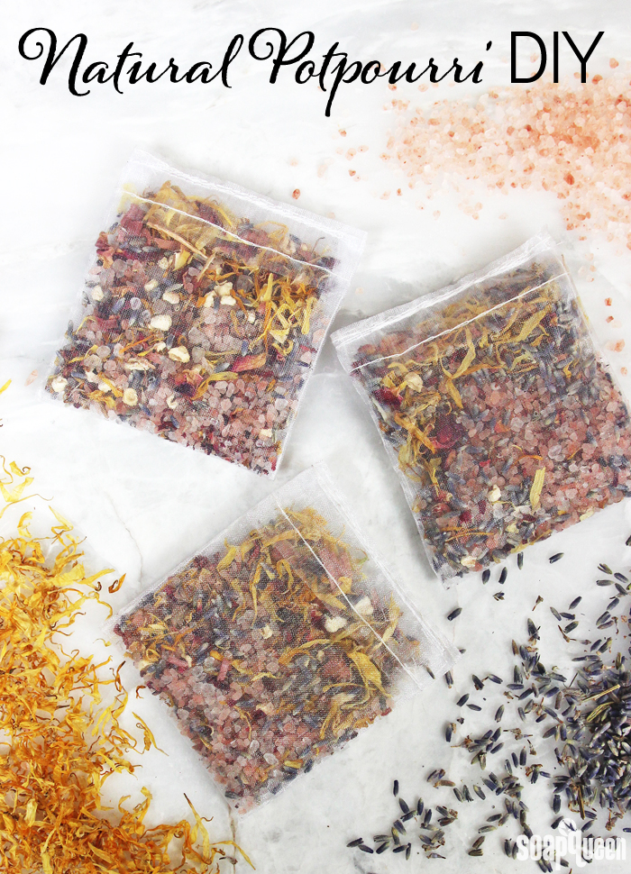 These natural potpourri squares are full of botanicals, salts and essential oils. They make small spaces smell amazing!