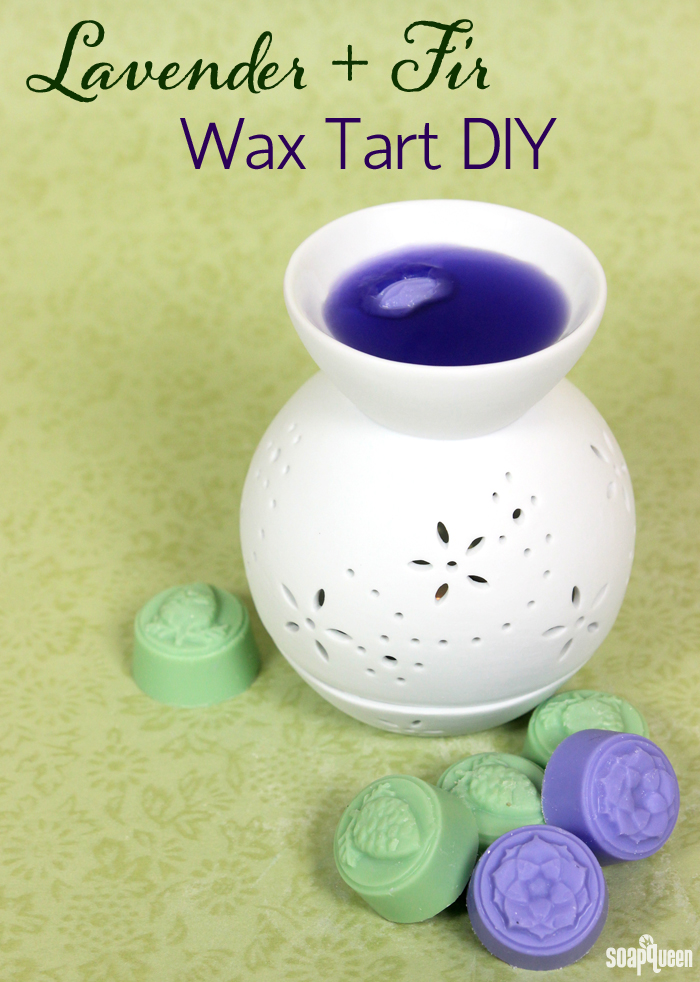 These wax tarts are made with lavender and fir needle essential oil, for a light earthy scent.