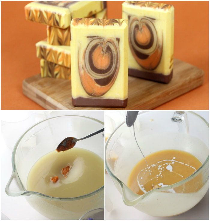 Learn how to add pumpkin puree to your cold process soap recipes in this blog post.