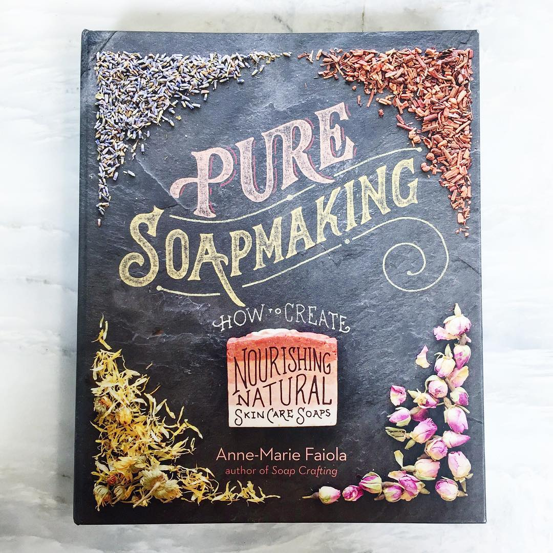 Pure Soapmaking contains 32 cold process recipes made with natural colorants and essential oils.
