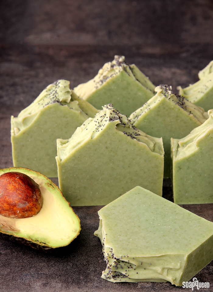 This Avocado and Spearmint Soap is made with real avocado, spearmint essential oils and French green clay.