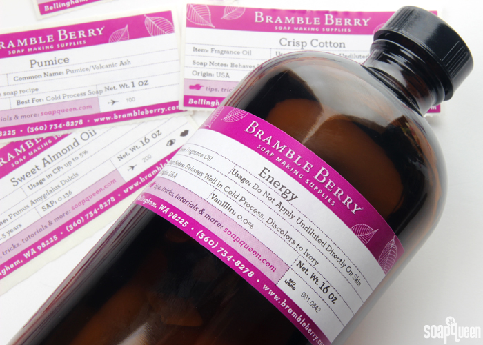 Bramble Berry's labels have updated to include more product information on every product!