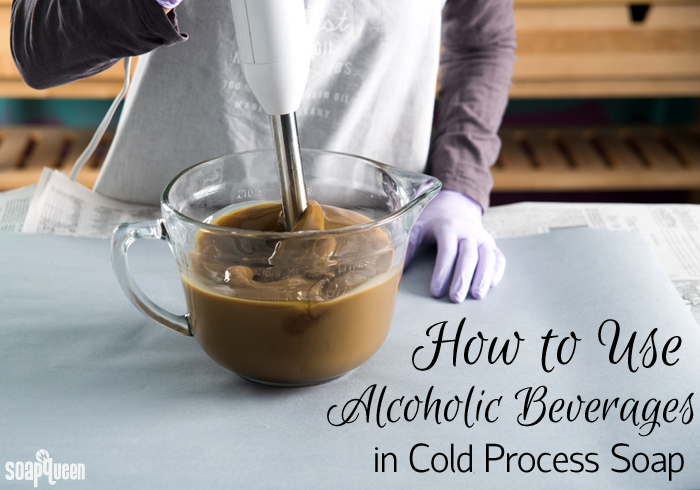 Learn how to use beer, wine and other alcoholic beverages in your cold process soap recipes.