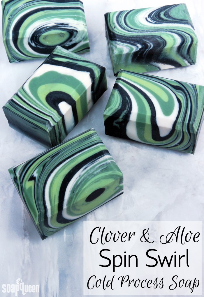 Learn how to create gorgeous Clover and Aloe Spin Swirl Soap in this video tutorial. The spin swirl involves spinning the mold to create a unique swirl each time.