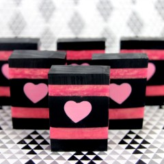 Charcoal and Rose Gold Heart Soap Tutorial