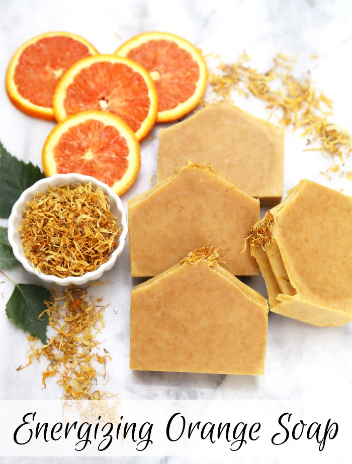 Energizing Orange Soap Kit /// Learn how to create your own natural soap from scratch using essential oils.