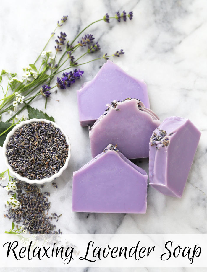 Relaxing Lavender Soap Kit /// Learn how to create your own natural soap from scratch using essential oils.