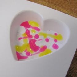 Neon Splatter Heart