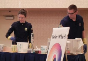 Photo: Teaching how to swirl soap