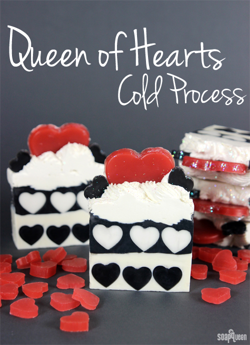 This Queen of Hearts Soap was inspired by the famous character, and features a lovely scent combination of rose and Lovespell fragrance oils.