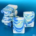 Blue Rain Drop Swirl Cold Process3