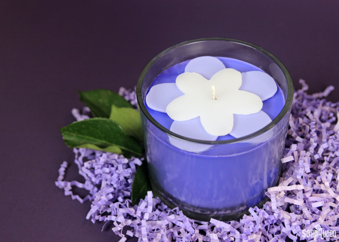 This Blackberry Candle Tutorial includes a template to create the cute wax flowers on top!
