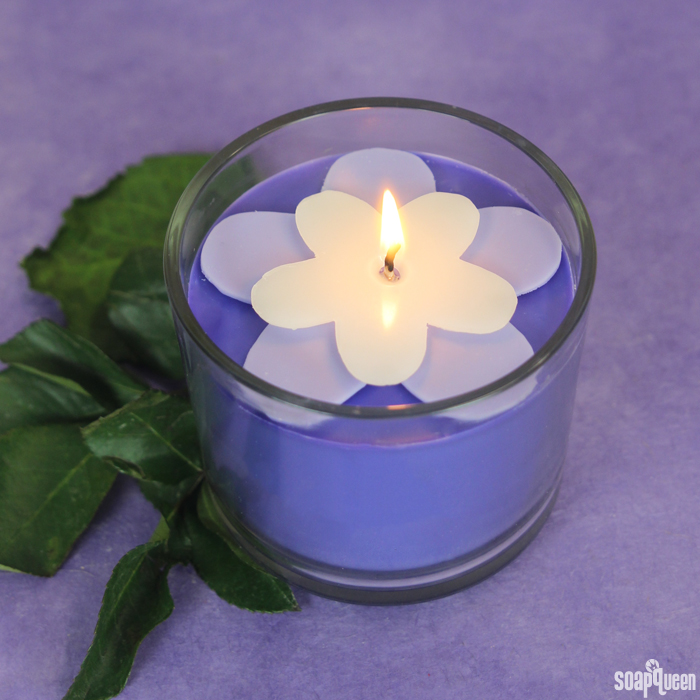 Purple Blackberry Flower Candle Kit