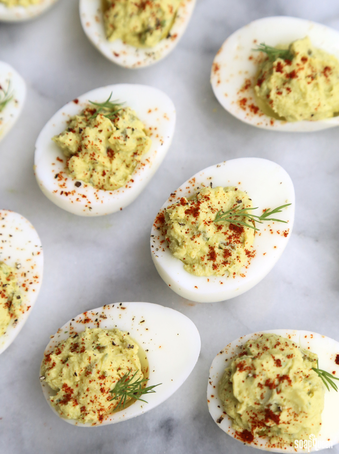 Avocado & Dill Deviled Eggs Recipe - Soap Queen
