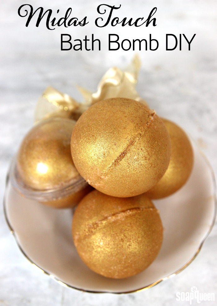 Midas Touch Bath Bomb | Bath Bomb Recipes That Are Easy To DIY | Makeup Tutorials